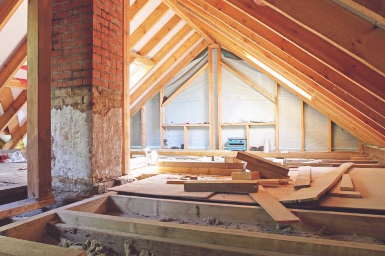 Zolder renovatie, vloer isolatie